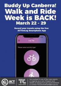 Canberra Ride and Walk Week (22-29 March)